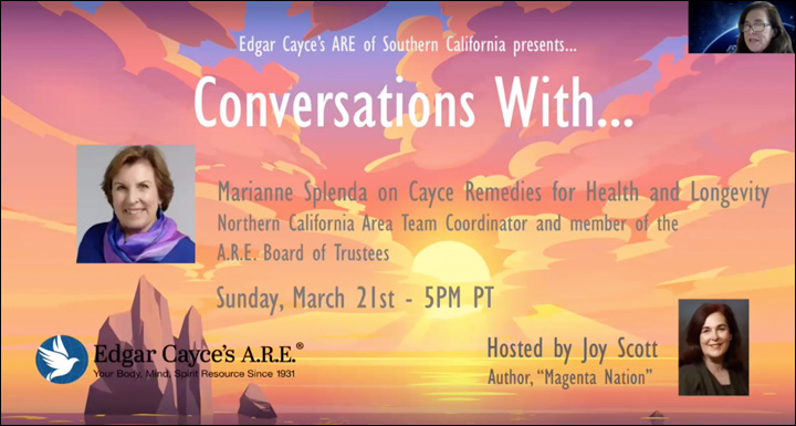 YouTube videos - Conversations With... Edgar Cayce's A.R.E. of tge Greater Los Angeles Area